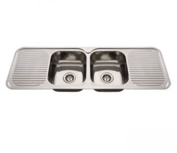 EVERHARD NUGLEAM DOUBLE BOWL DOUBLE DRAINER SINK Product Image 1