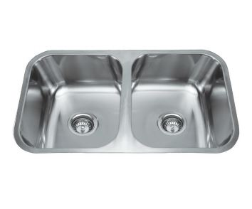 EVERHARD NUGLEAM DOUBLE BOWL UNDERMOUT SINK Product Image 1