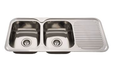 EVERHARD NUGLEAM DOUBLE BOWL SINK WITH LEFT HAND DRAINER Product Image 1