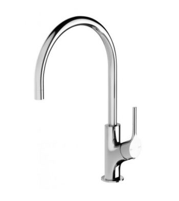 PHOENIX VIVID SLIMLINE OVAL SINK MIXER 220MM GOOSENECK CHROME