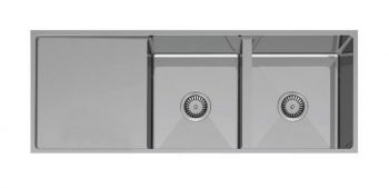 PACO JAANSON PALERMO DOUBLE BOWL SINK WITH DRAINER Product Image 1
