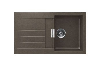 ABEY SCHOCK SIGNUS SINGLE BOWL SINK WITH DRAINER BRONZE Product Image 1