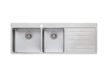 OLIVERI SONETTO ONE AND THREE QUARTER BOWL TOPMOUNT SINK WITH DRAINER – RHB & LHB AVAILABLE Product Image 1