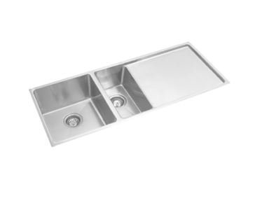 EVERHARD SQAURELINE PLUS ONE AND HALF BOWL UNDERMOUNT SINK WITH DRAINER Product Image 1