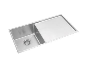 EVERHARD SQUARELINE PLUS SINGLE BOWL UNDERMOUNT SINK WITH DRAINER Product Image 1