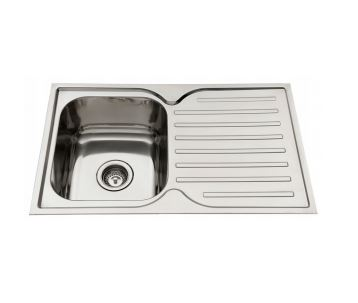 EVERHARD SQUARELINE SINGLE BOWL SINK WITH LEFT HAND DRAINER Product Image 1