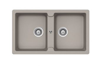 ABEY SCHOCK TYPOS DOUBLE BOWL SINK CONCRETE Product Image 1