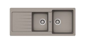 ABEY SCHOCK TYPOS DOUBLE BOWL SINK WITH DRAINER CONCRETE Product Image 1