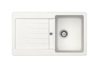 ABEY SCHOCK TYPOS SINGLE BOWL SINK WITH DRAINER ALPINA Product Image 1