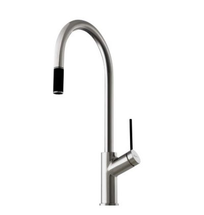 OLIVERI VILO GOOSENECK SINK MIXER WITH PULL OUT CHROME