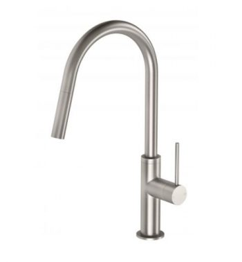 PHOENIX VIVID SLIMLINE PULL OUT SINK MIXER BRUSHED NICKEL Product Image 1