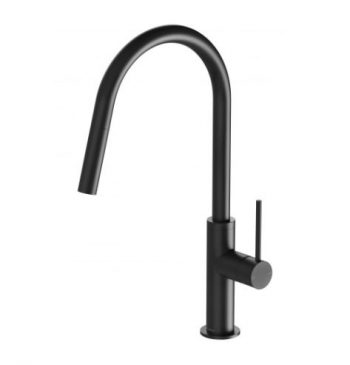 PHOENIX VIVID SLIMLINE PULL OUT SINK MIXER MATTE BLACK