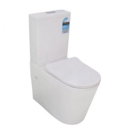 FLINDERS RIMLESS WALL FACED TOILET SUITE WITH S/CLOSE SEAT