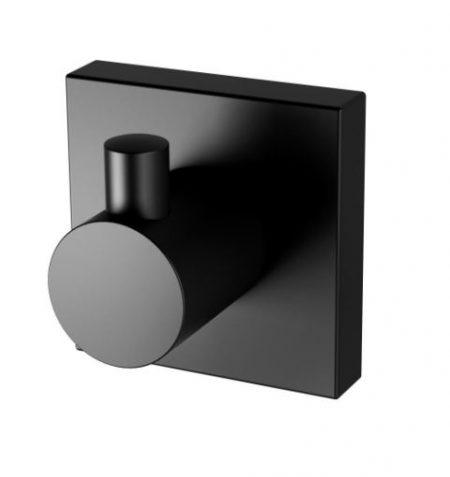 PHOENIX RADII SQUARE PLATE ROBE HOOK MATTE BLACK