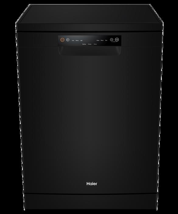 HAIER 60CM MATTE BLACK DISHWASHER WITH 15 PLACE SETTINGS, 6 WASH PROGRAMS, 3.5 * ENERGY (WELS 5*) HDW15V2B2