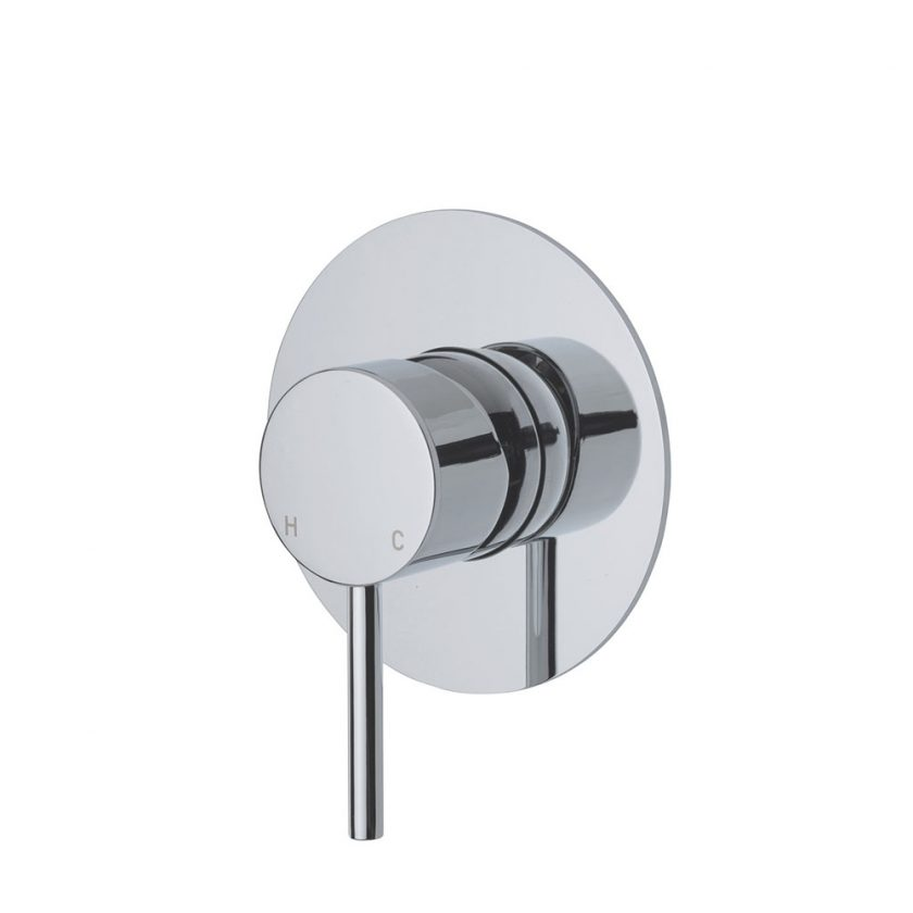 Fienza Cali Wall Mixer with Large Round Plate Product Image 1