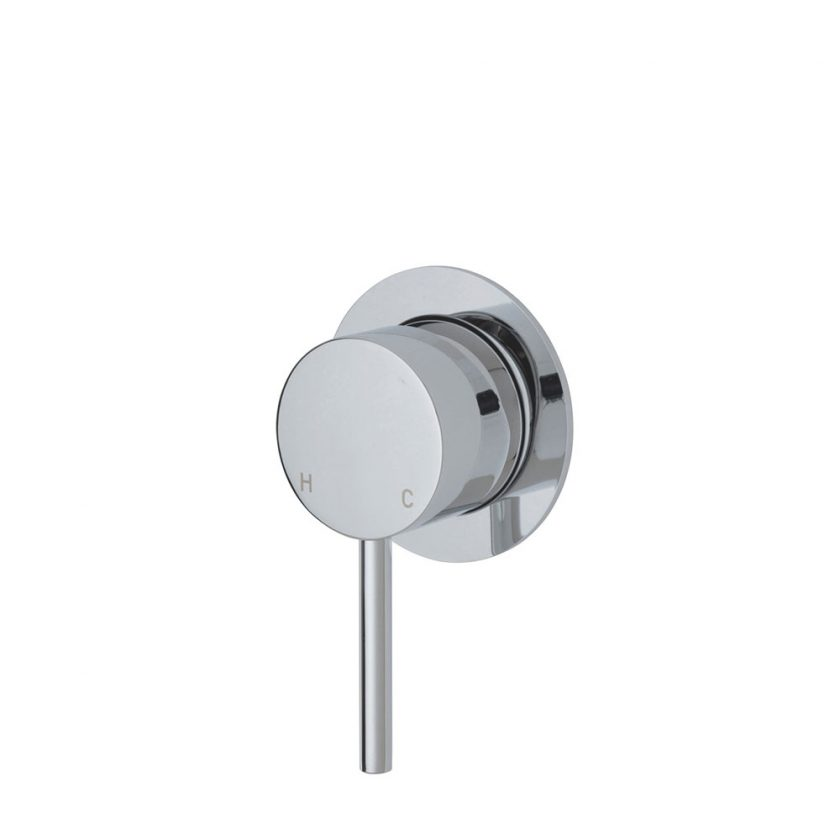 Fienza Cali Wall Mixer, Small Round Plate Product Image 1