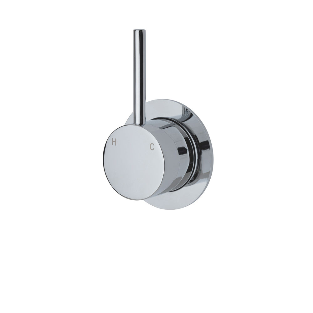 Fienza Cali Up Wall Mixer, Small Round Plate