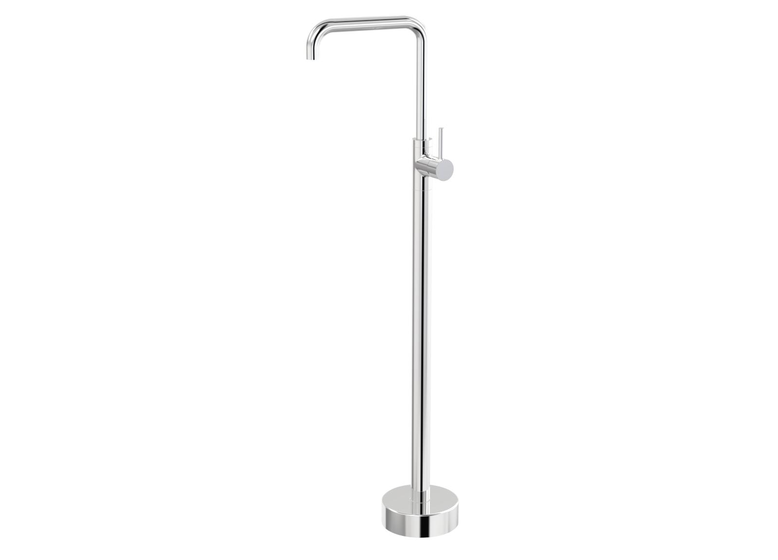 Par Taps Lugano Floor Bath Filler 90 Degree Mixer