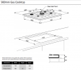 900MM SS 5 BURNER GAS COOKTOP Product Image 2