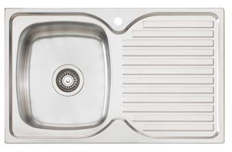 Oliveri Project Sink – Single Bowl & Drainer - Topmount