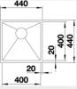 $150.00 – QUATRUS 40CM SINGLE BOWL SINK 32L QUATR15400IUK5 Product Image 3