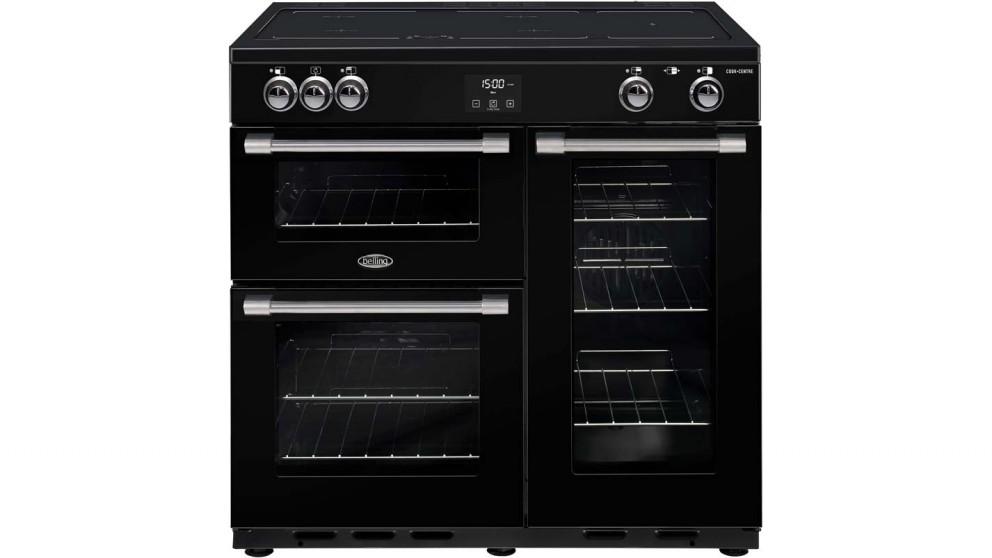 90cm CookCentre Deluxe Induction Range Cooker - Black