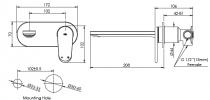 Greens Oakley Wall Basin Mixer Product Image 2