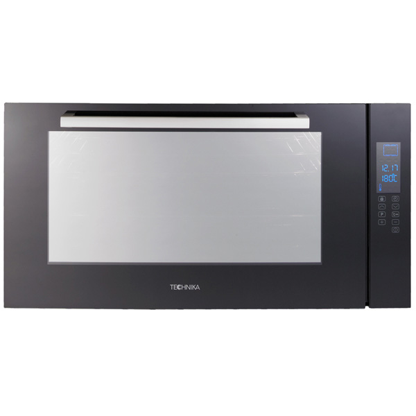 90cm Black Glass Electric Oven