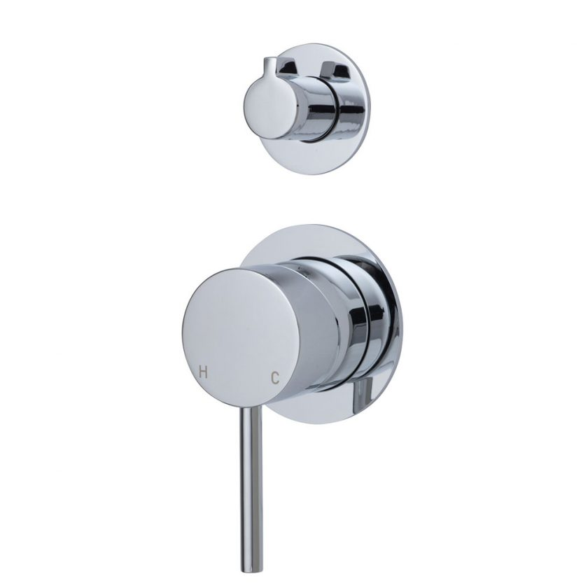 Fienza Cali Wall Diverter Mixer, Small Round Plates Product Image 1