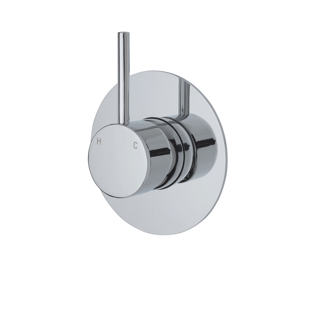 Fienza Cali Up Wall Mixer, Large Round Plate