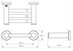 Bathe BATHROOM BUTLER 4600 Premium Series Shower Foot Rest Product Image 2