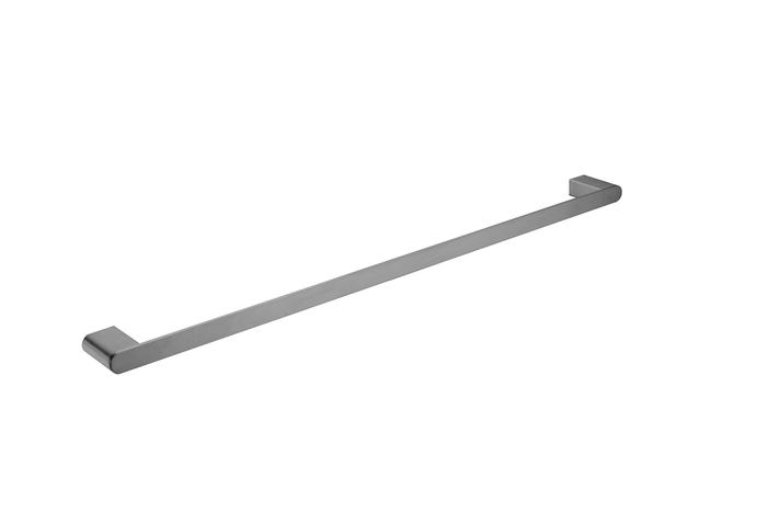 NERO VITRA SINGLE TOWEL RAIL 800MM GUN METAL GREY