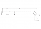 NERO VITRA ROUND SHOWER ARM GUN METAL GREY Product Image 2