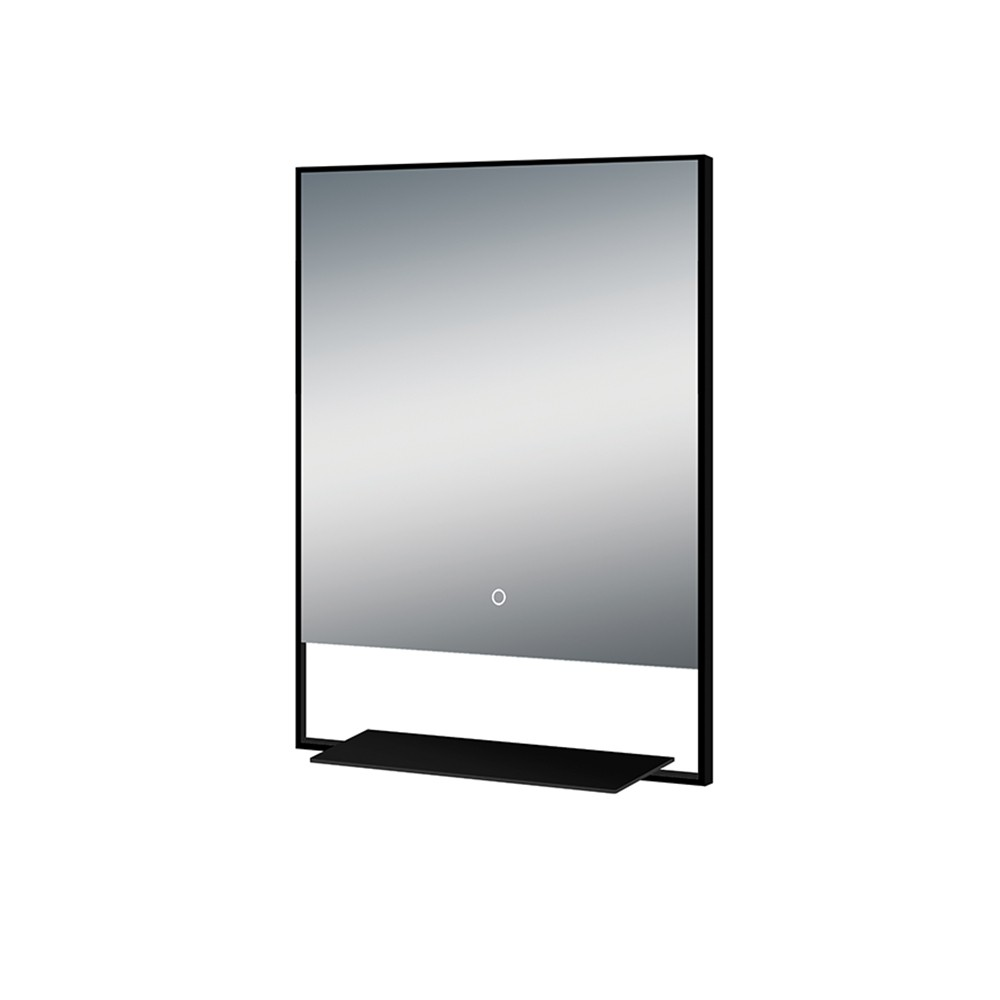 Arcisan mirror with frame and shelf