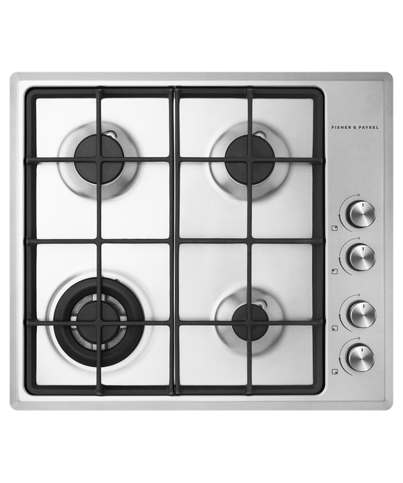 Fisher & Paykel 60cm, Stainless Steel Gas Cooktop