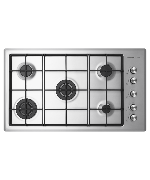 Fisher & Paykel 90cm, Stainless Steel Gas Cooktop
