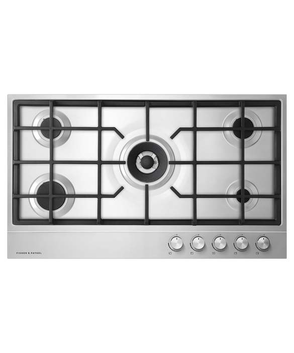Fisher & Paykel 90cm, Stainless Steel Gas Cooktop Product Image 1