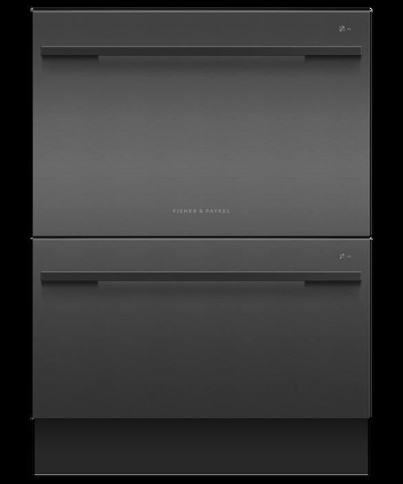 Fisher & Paykel 60cm, Black Double DishDrawer Dishwasher