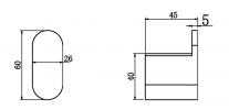 NERO VITRA ROBE HOOK BRUSHED GOLD Product Image 2
