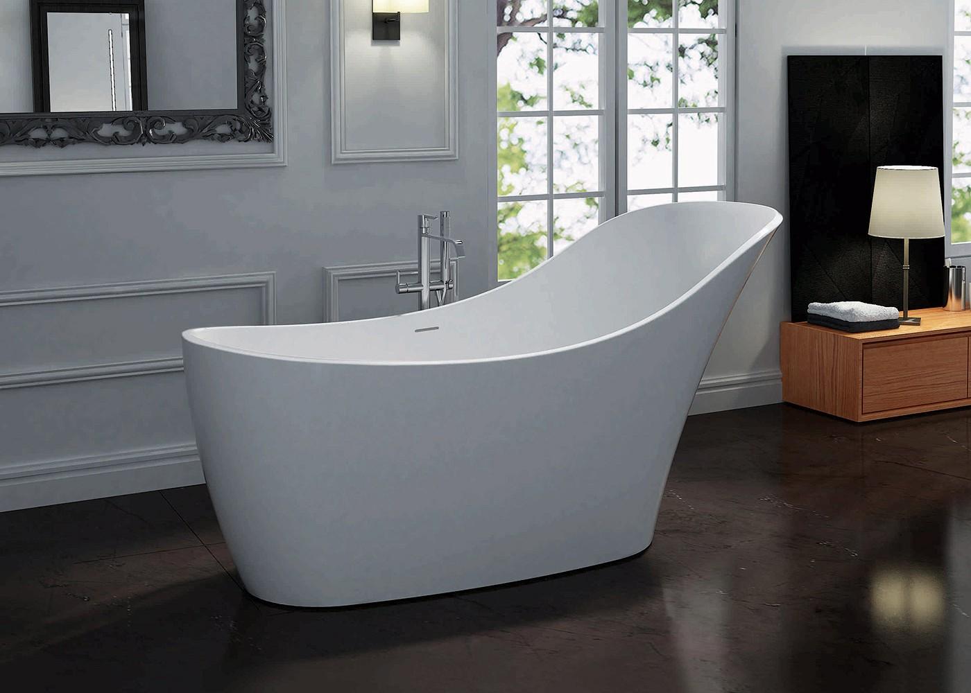 Pietra Bianca Anna Freestanding Bath